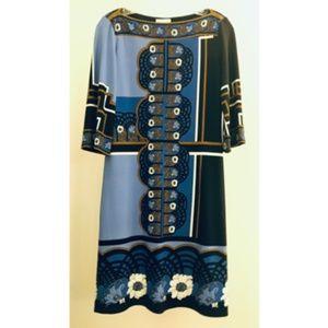 Donna Morgan Dress (Blue/black, Size: 2)
